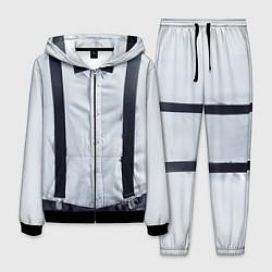 Костюм мужской Рубашка с подтяжками цвета 3D-черный — фото 1