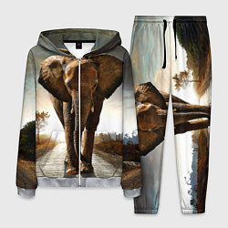 Костюм мужской Дикий слон цвета 3D-меланж — фото 1