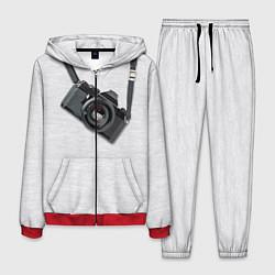 Костюм мужской Фотоаппарат на груди цвета 3D-красный — фото 1