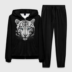 Костюм мужской Голова белого тигра цвета 3D-черный — фото 1