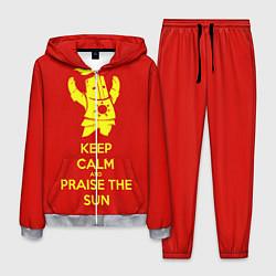 Костюм мужской Keep Calm & Praise The Sun цвета 3D-меланж — фото 1