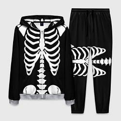 Костюм мужской Скелет цвета 3D-меланж — фото 1