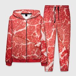 Костюм мужской Кусок мяса цвета 3D-красный — фото 1