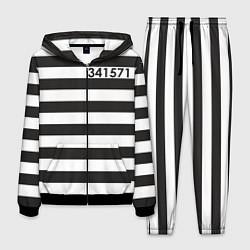 Костюм мужской Заключенный цвета 3D-черный — фото 1