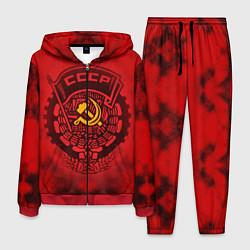Костюм мужской СССР цвета 3D-красный — фото 1