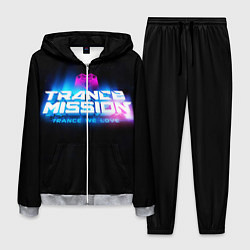 Костюм мужской Trancemission: Trance we love цвета 3D-меланж — фото 1