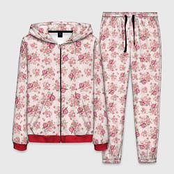 Костюм мужской Fashion sweet flower цвета 3D-красный — фото 1