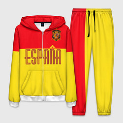 Костюм мужской Сборная Испании: Евро 2016 цвета 3D-белый — фото 1