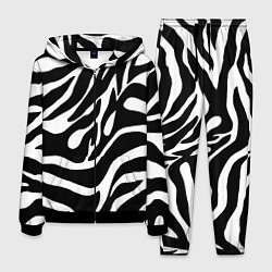 Костюм мужской Зебра цвета 3D-черный — фото 1