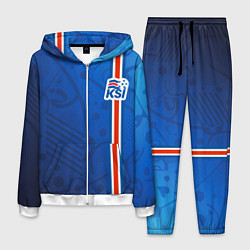 Костюм мужской Сборная Исландии по футболу цвета 3D-белый — фото 1