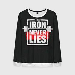Свитшот мужской The iron never lies цвета 3D-белый — фото 1