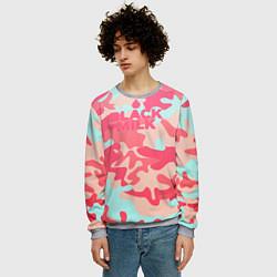 Свитшот мужской Black Milk: pink цвета 3D-меланж — фото 2
