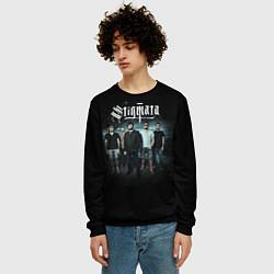 Свитшот мужской Stigmata Band цвета 3D-черный — фото 2