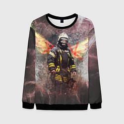 Свитшот мужской Пожарный ангел цвета 3D-черный — фото 1