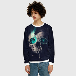Свитшот мужской Skull eyes цвета 3D-белый — фото 2