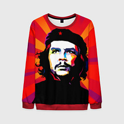 Свитшот мужской Че Гевара цвета 3D-красный — фото 1
