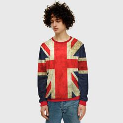 Свитшот мужской Великобритания цвета 3D-красный — фото 2