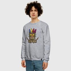 Свитшот хлопковый мужской Aku-Aku (Crash Bandicoot) цвета меланж — фото 2
