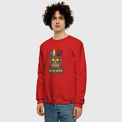 Свитшот хлопковый мужской Aku-Aku (Crash Bandicoot) цвета красный — фото 2