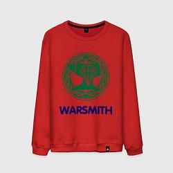 Свитшот хлопковый мужской Dwarf Fighter - Warsmith цвета красный — фото 1