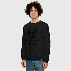 Свитшот хлопковый мужской Dwarf Fighter - Fortune Seeker цвета черный — фото 2