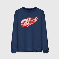 Свитшот хлопковый мужской Detroit Red Wings цвета тёмно-синий — фото 1