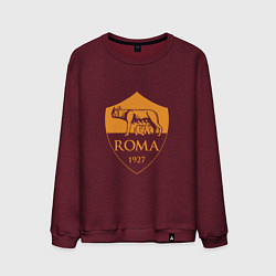 Свитшот хлопковый мужской AS Roma: Autumn Top цвета меланж-бордовый — фото 1