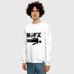 Свитшот хлопковый мужской NOFX crushman цвета белый — фото 2