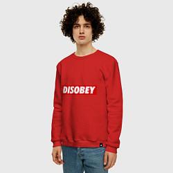 Свитшот хлопковый мужской Disobey цвета красный — фото 2