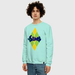 Свитшот хлопковый мужской The Sims цвета мятный — фото 2