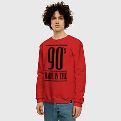 Свитшот хлопковый мужской Made in the 90s цвета красный — фото 2