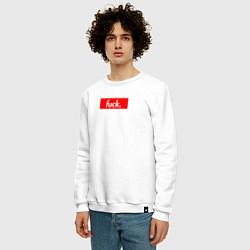 Свитшот хлопковый мужской Fuck Supreme цвета белый — фото 2