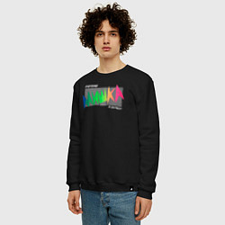 Свитшот хлопковый мужской Mishka NYC x Tessa Violet цвета черный — фото 2