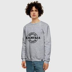 Свитшот хлопковый мужской Made in Kalmykia цвета меланж — фото 2