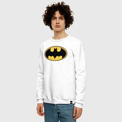 Свитшот хлопковый мужской Batman цвета белый — фото 2