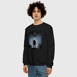 Свитшот хлопковый мужской ВЕДЬМАК цвета черный — фото 2