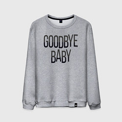 Свитшот хлопковый мужской Goodbye цвета меланж — фото 1