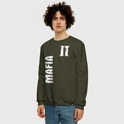 Свитшот хлопковый мужской MAFIA II цвета хаки — фото 2