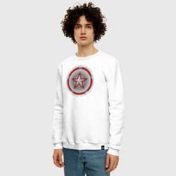 Свитшот хлопковый мужской Red Guardian цвета белый — фото 2