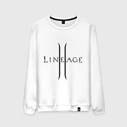 Свитшот хлопковый мужской Lineage logo цвета белый — фото 1