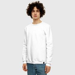 Свитшот хлопковый мужской OWSLA цвета белый — фото 2