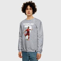 Свитшот хлопковый мужской Ronaldo 07 цвета меланж — фото 2