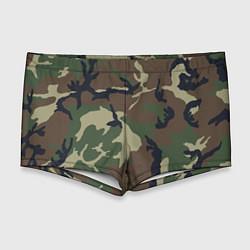 Мужские плавки Камуфляж: хаки/зеленый цвета 3D — фото 1