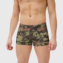 Мужские плавки Камуфляж: коричневый/хаки цвета 3D — фото 2