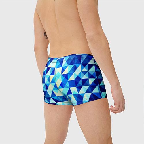 Мужские плавки Синяя геометрия / 3D – фото 4