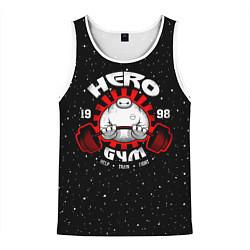 Майка-безрукавка мужская Hero Gym цвета 3D-белый — фото 1