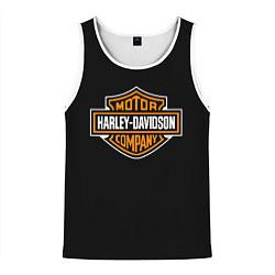 Майка-безрукавка мужская Harley-Davidson: Motor Company цвета 3D-белый — фото 1