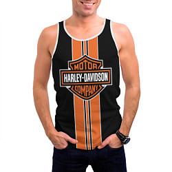 Майка-безрукавка мужская Harley-Davidson цвета 3D-белый — фото 2