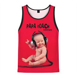 Мужская 3D-майка без рукавов с принтом Paparoach: Music Kid, цвет: 3D-черный, артикул: 10129521504123 — фото 1