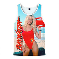 Майка-безрукавка мужская Baywatch: Pamela Anderson цвета 3D-белый — фото 1